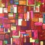 peinture abstraite à l'acrylique de Sandrine