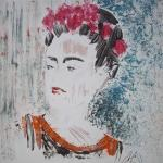 Frida Kahlo, monotype de Christine