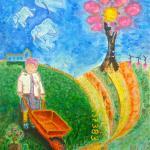Peinture acrylique sur toile de Christophe