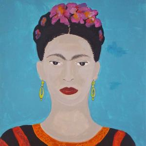 Frida Kahlo, acrylique sur toile de Fabienne