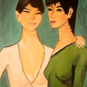 Les Deux Sœurs, pastels secs de Sandrine