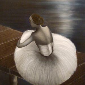 Danseuse, huile sur toile de Stéphanie