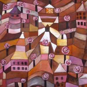 Roseraie, d'après Paul Klee, de Sylvette